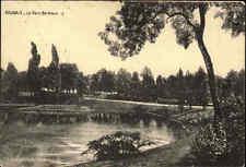 1915 Feldpost-AK & Stempel a/ AK CPA Roubaix Le Parc Barieux Westfront 1. WK