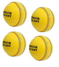 Indoor Yellow Hard Cricket Ball 2 Pce Hand Stitch Leather Pack of 4 Balls