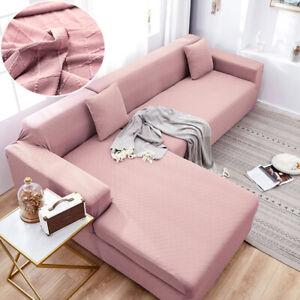 L Shape Sofa Protectors Diamond Argyle Slip Cover 1 2 3 4 Seater Recliner Gray