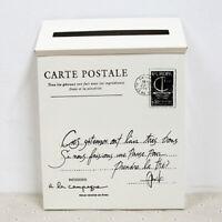 Vintage galvanisé fer courrier boîte aux lettres boîte aux lettres boîte