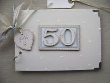 PERSONALISED 50th  birthday .A5  SIZE... PHOTO ALBUM/SCRAPBOOK/MEMORY BOOK.