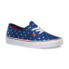 Vans Authentic (Studded Stars) Red/Blue Classic Skate WOMEN'S Shoes SIZE 7.5