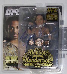 Benson Henderson Signed UFC 150 Round 5 Action Figure BAS Beckett COA Autograph