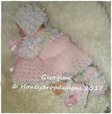 HONEYDROPDESIGNS * GEORGINA * PAPER KNITTING PATTERN * 0-6 MONTHS (2 Sizes)