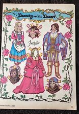 Beauty & The Beast Paper Doll by Pat Frey 1982 National Doll World Mag.