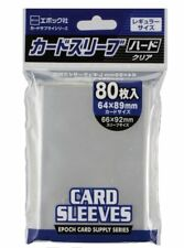 Epoch card sleeve trading card size hard 1 pack 80 pieces protect scratch dirt