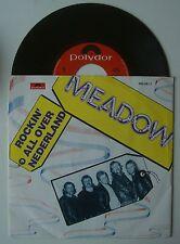 """7"""" MEADOW ROCKIN ALL OVER NEDERLAND DE BRAVE BERTUS BLUES RARE DUTCH 1985 PS NM"""