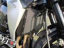 BRUUDT Kühlerabdeckung Schwarz/Silber für Kawasaki Z1000 Z 1000 Z1000SX ab 2014