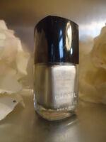 CHANEL 06 MERCURE Satin-Mat dark Silver Nail Varnish new No Box & Marked Cap
