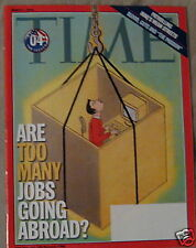 Time Magazine  TOO MANY JOBS GOING ABROAD Mar 1 2004 d