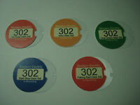 Western Electric telephone nice colored 302 dial card set and plastics.