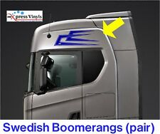 scania volvo daf truck body decals x 2.  Boomerang style graphics stickers