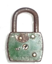 Old Iron Collectible Small Pad Lock (Made In Japan) Working Lock with Key