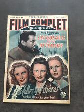 LE FILM COMPLET N°160 30/6/49 L'ECHAFAUD PEUT ATTENDRE / LES FOLLES HERITIERESB1
