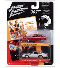 James Bond Aston Martin Amc Martin Db5 Twin Pack Johnny Lightning Die-Cast 1:64