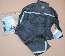 NWT Nelson Rigg Motorcycle SR-5000 Stormrider 2-Piece Rain Suit (Black) Small