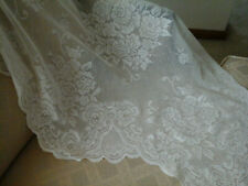 2 panels floral ivory lace swag window valance each panel 35X28
