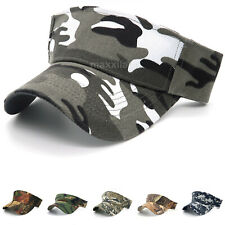 Sun Visor Hat for Men Camouflage Outdoor Hunting Style Cap Loop Adjustable Size
