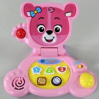 Vtech Bear's Baby Laptop - Pink - Interactive Learning Toy - Shapes/Numbers