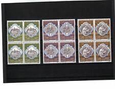 a119 - VATICAN - SG619-621 MNH 1974 WOOD CARVINGS - BLOCKS OF 4