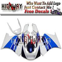 Fairings For Suzuki RGV250 VJ22 1990-1995 ABS Fairing Kits White Light Blue Body