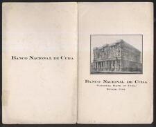 Postcard Size CUBA HAVANA Vanco National 1920 Information Booklet