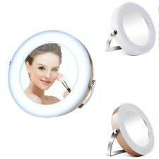 Portable 3X Magnifying LED Round Makeup Mirror Daylight Beauty Travel