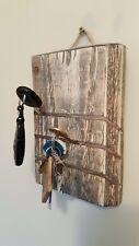 MURO in legno Key Holder Organizzatore rustico fatto a mano shabby regalo Lettera di Natale