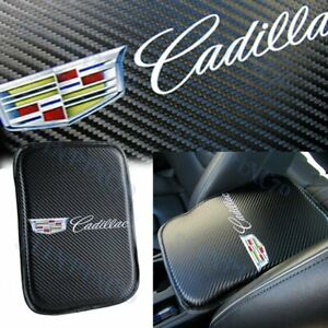 For NEW CADILLAC Carbon Fiber Car Center Console Armrest Cushion Pad Cover 1PCS