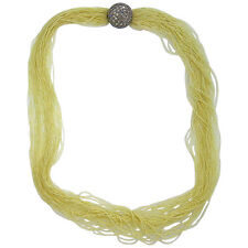 Stunning Seed Pearl Multi Strand Necklace with 2.00ctw Diamond 14k Gold Clasp