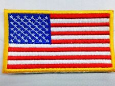 "25 Usa American Flag Embroidered Patch 3 1/2""x2 1/2"""