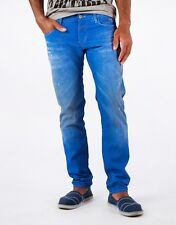 G-Star Raw Jeans '3301 LOW TAPERED' AZURE BLUE RRP Mens Size W40 L36