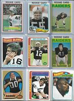 Raiders Vintage All-Time Greats Lot (36) Different w/ Rookies Hubbard Villapiano