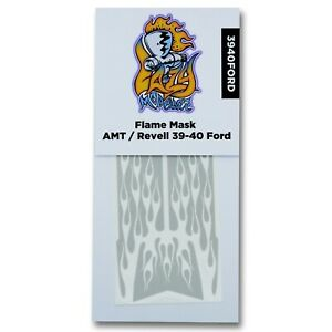 Flame Paint Masks for AMT or Revell 1939 - 40 Ford