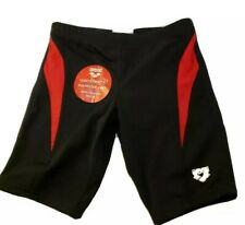 Arena Swim Shorts Borax Jr Jammer Training black and red size 24  size 8/9 NWT