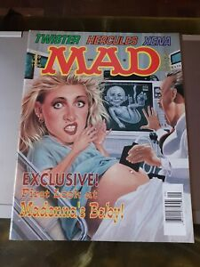 Madonna in Cover Mad magazine #349 of 1996 vintage very good condition