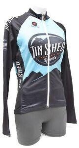 Pactimo Tin Shed Women Long Slv Cycling Jersey XS SMALL Black Road Bike Mountain