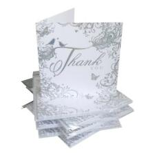 Thank You For The Wedding Gift Cards Pack 6 Silver Scroll Design