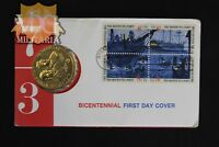 American Revolution Bicentennial Medallion First Day Cover-Price Per One