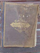 ORIGINAL ANTIQUE 1879 ILLUSTRATED ATLAS OF MACOUPIN COUNTY  ILLINOIS-1763-1879