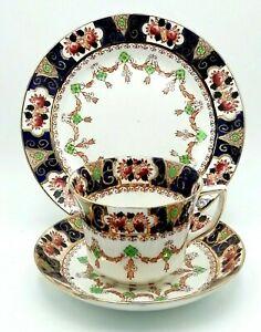 Vintage Antique Royal Albion Imari Style Tea Cup Saucer Plate Trio 2191