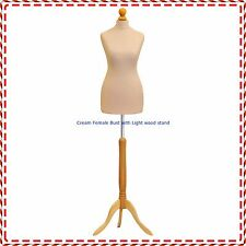 Cream Female Tailors Mannequin Display  Dummy For Dressmakers Size UK 6/8