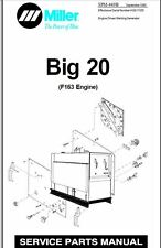MILLER BIG 20  PARTS & SCHEMATICS MANUAL EFF WITH HJ213015