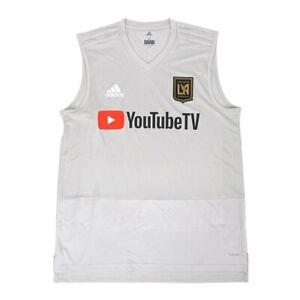 Los Angeles FC MLS Adidas Men's Grey Climacool 2018 Sleeveless Training Jersey