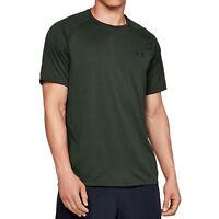 Under Armour Tech Mens Short Sleeve Fitness Training T-Shirt Tee Khaki - L