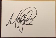 MATT JOHNSON SIGNED 6X4 WHITE CARD TV AUTOGRAPH PRESENTER THIS MORNING & OK TV
