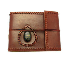 Fair Trade Handmade Small Stitched & Stoned Leather Photo Album 2nd Quality