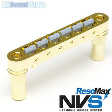 NEW Graph Tech RESOMAX NVS 6MM TUNE-O-MATIC Bridge - U.L.F. Saddles - GOLD