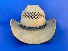 21e2819150a8a Western Vaquero Vaquera diapositiva Banda de sombrero negro marrón blanco  crin 5 8