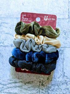 SCUNCI 5 Pcs Assorted Colors Scrunchies